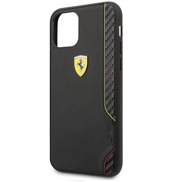 FERRARI On Track iPhone 11 Pro fekete puha PU gumitok - 2