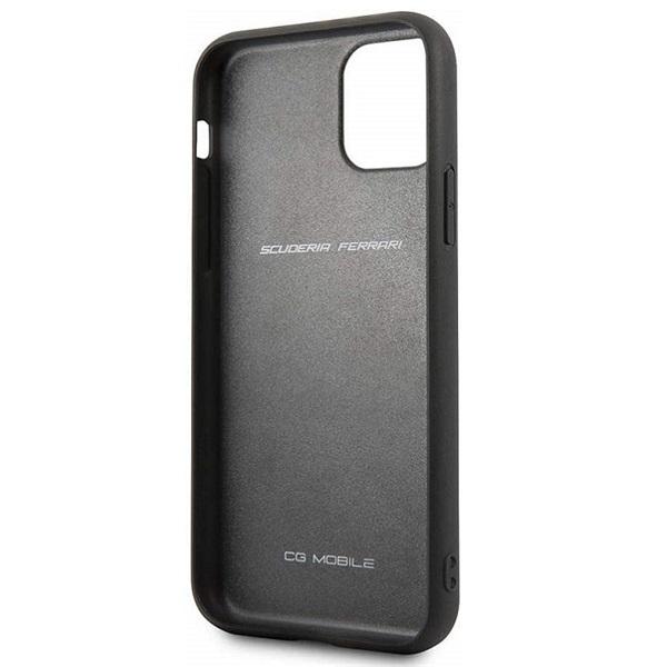 FERRARI On Track iPhone 11 Pro fekete puha PU gumitok - 3