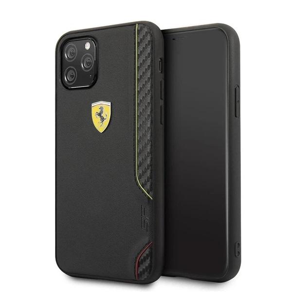 FERRARI On Track iPhone 11 Pro Max fekete puha PU gumitok - 1