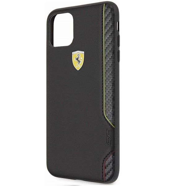 FERRARI On Track iPhone 11 Pro Max fekete puha PU gumitok - 2