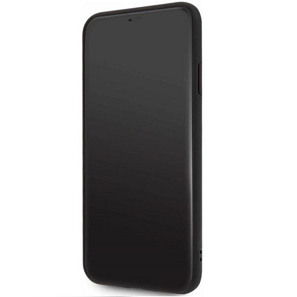 FERRARI On Track iPhone 11 Pro Max fekete puha PU gumitok - 3