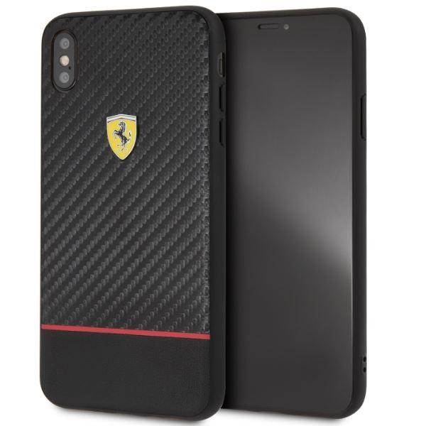 Ferrari On-Ttrack racing iPhone XS MAX karbon és puha gumi tok - 2