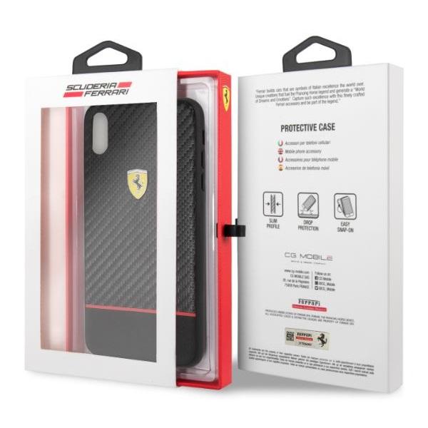 Ferrari On-Ttrack racing iPhone XS MAX karbon és puha gumi tok - 3