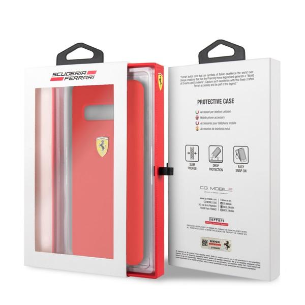 Ferrari Samsung S10 Plus SF piros szilikon tok - 3