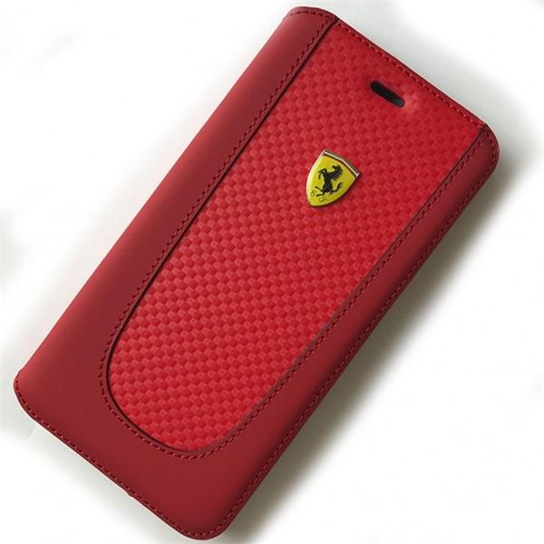 Ferrari SF Pit Stop iPhone 7 Plus kinyitható piros tok - 1