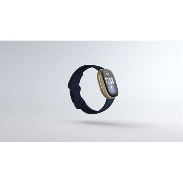 Fitbit Versa 3 aluminium éjkék-bársonyos arany okosóra - 2