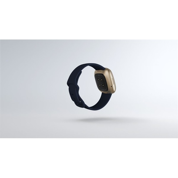 Fitbit Versa 3 aluminium éjkék-bársonyos arany okosóra - 5