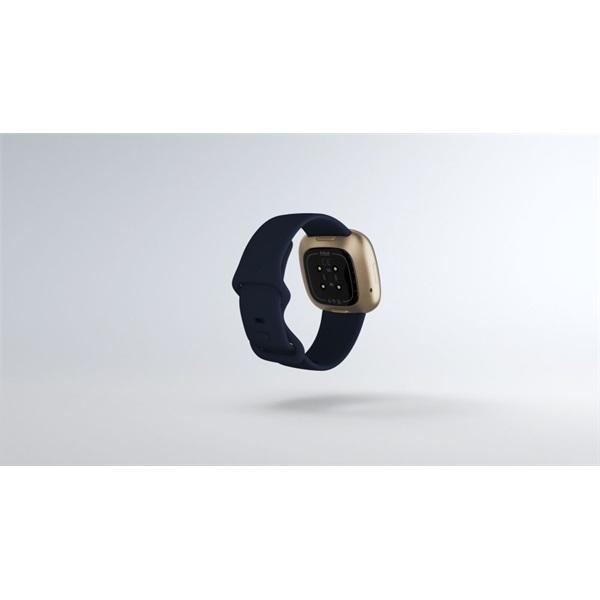 Fitbit Versa 3 aluminium éjkék-bársonyos arany okosóra - 6