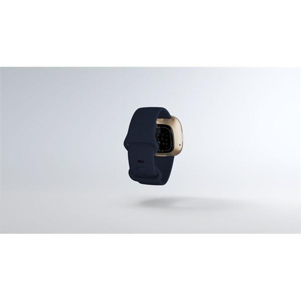 Fitbit Versa 3 aluminium éjkék-bársonyos arany okosóra - 7