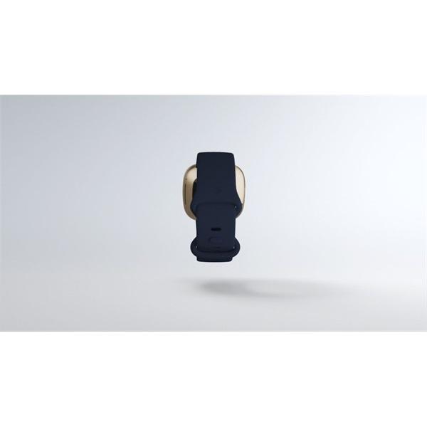 Fitbit Versa 3 aluminium éjkék-bársonyos arany okosóra - 8