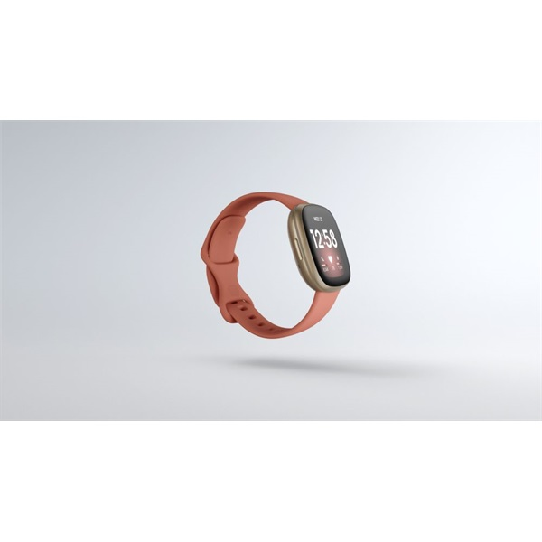 Fitbit Versa 3 aluminum agyag rózsaszín-bársonyos arany okosóra - 2