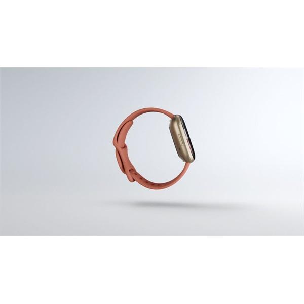 Fitbit Versa 3 aluminum agyag rózsaszín-bársonyos arany okosóra - 3