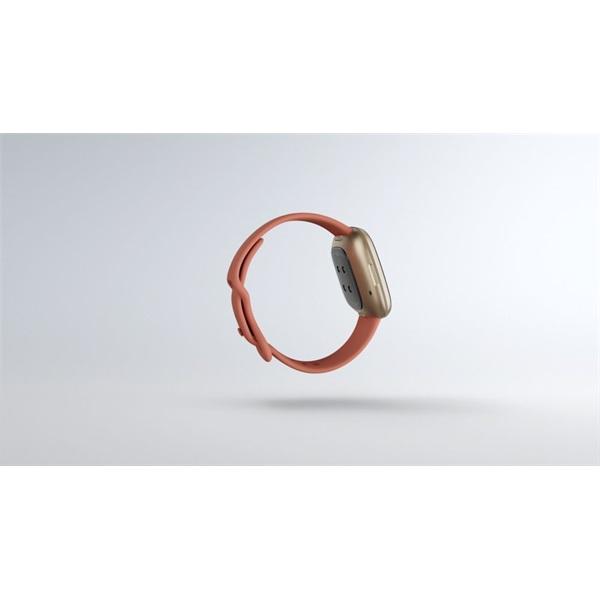 Fitbit Versa 3 aluminum agyag rózsaszín-bársonyos arany okosóra - 4
