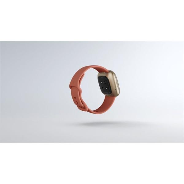 Fitbit Versa 3 aluminum agyag rózsaszín-bársonyos arany okosóra - 5