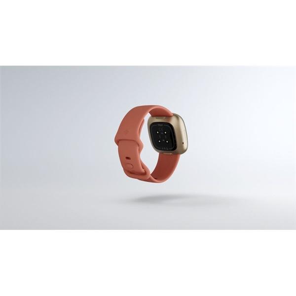 Fitbit Versa 3 aluminum agyag rózsaszín-bársonyos arany okosóra - 6