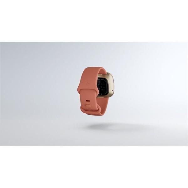 Fitbit Versa 3 aluminum agyag rózsaszín-bársonyos arany okosóra - 7