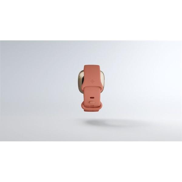 Fitbit Versa 3 aluminum agyag rózsaszín-bársonyos arany okosóra - 8