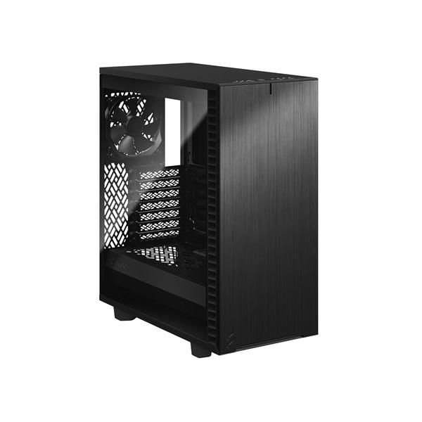 Fractal Design Define 7 Compact Fekete ablakos (Táp nélküli) ATX ház - 2