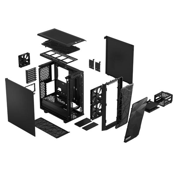 Fractal Design Meshify 2 Compact  Fekete (Táp nélküli) ATX ház - 18