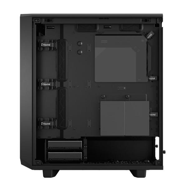 Fractal Design Meshify 2 Compact  Fekete világos ablakos (Táp nélküli) ATX ház - 16