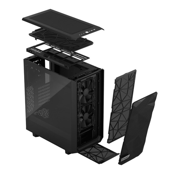 Fractal Design Meshify 2 Compact  Fekete világos ablakos (Táp nélküli) ATX ház - 17