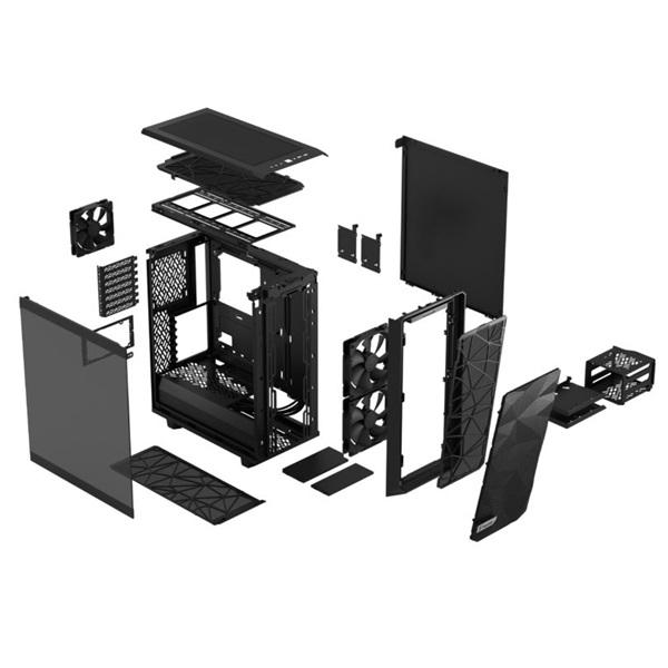 Fractal Design Meshify 2 Compact  Fekete világos ablakos (Táp nélküli) ATX ház - 18