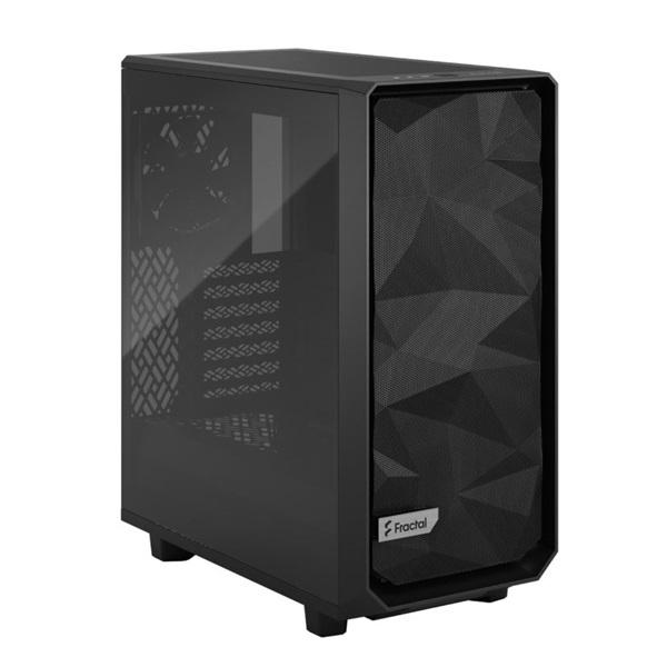 Fractal Design Meshify 2 Compact  Fekete világos ablakos (Táp nélküli) ATX ház - 2
