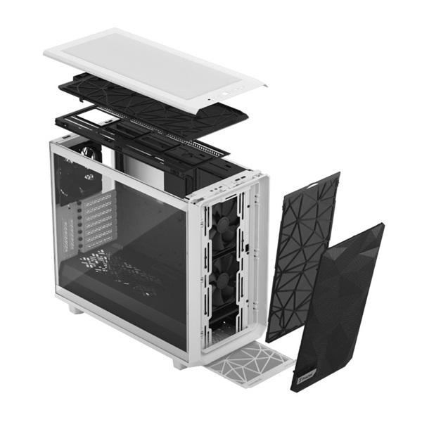 Fractal Design Meshify 2 Fehér világos ablakos (Táp nélküli) E-ATX ház - 22