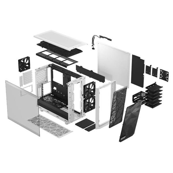 Fractal Design Meshify 2 Fehér világos ablakos (Táp nélküli) E-ATX ház - 23