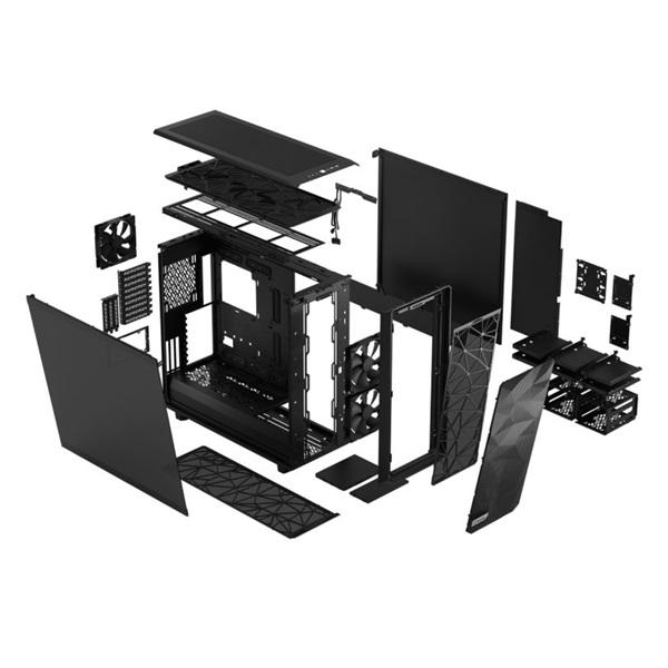 Fractal Design Meshify 2 XL Fekete sötét ablakos (Táp nélküli) E-ATX ház - 23
