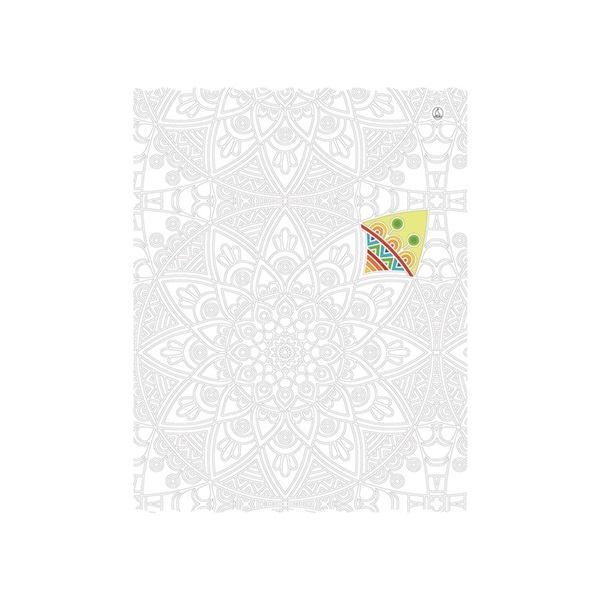 Fűzfő Design A4 81-32 színezős vonalas füzet - 3
