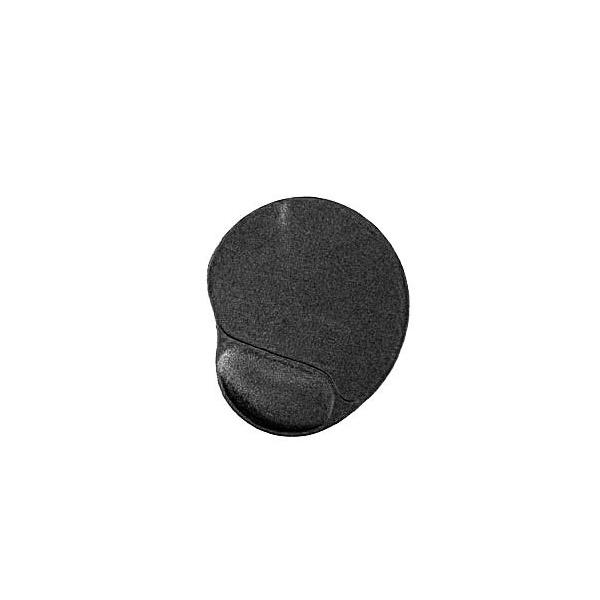 Gembird MP-GEL-BLACK zselés csuklótámaszos fekete egérpad - 1