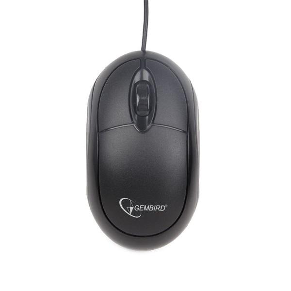 Gembird MUS-U-01 USB fekete egér - 1