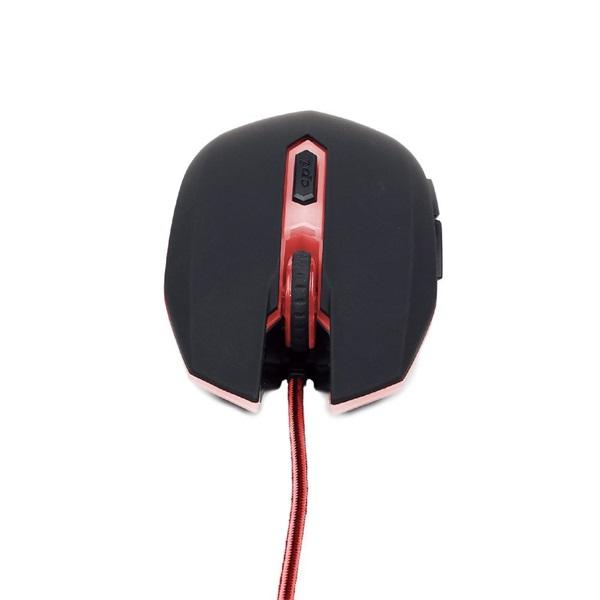 Gembird MUSG-001-R fekete-piros gamer egér - 2