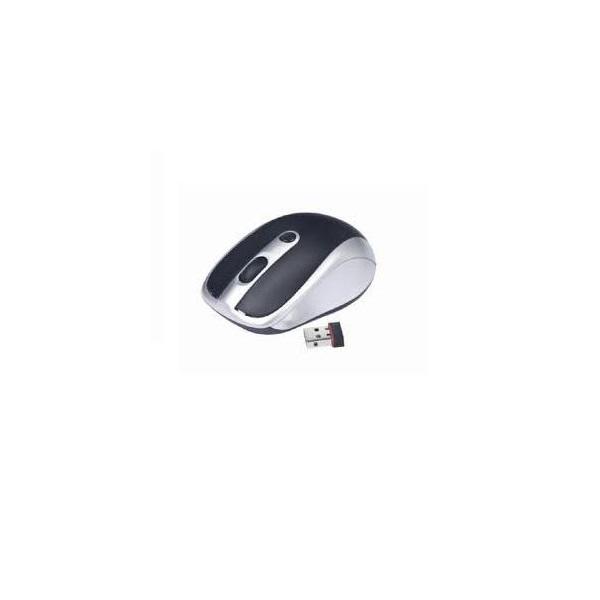 Gembird MUSW-002 vezeték nélküli fekete-ezüst egér - 1