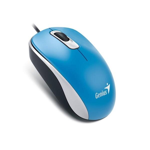 Genius DX-110 USB kék-fekete egér - 1