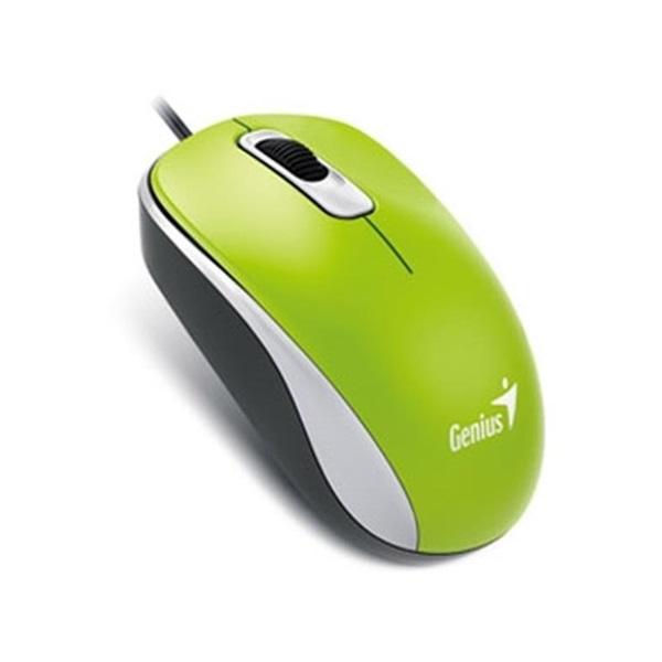 Genius DX-110 USB zöld-fekete egér - 1