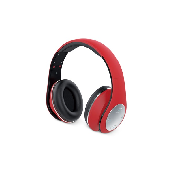 Genius HS-935BT összehajtható Bluetooth piros fejhallgató headset - 1