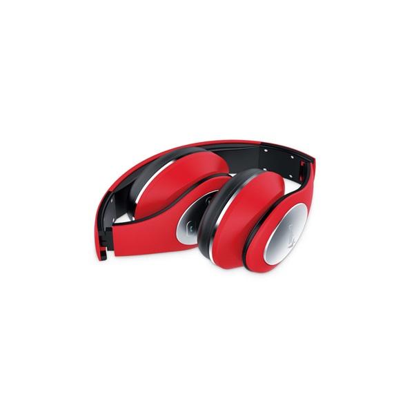 Genius HS-935BT összehajtható Bluetooth piros fejhallgató headset - 2