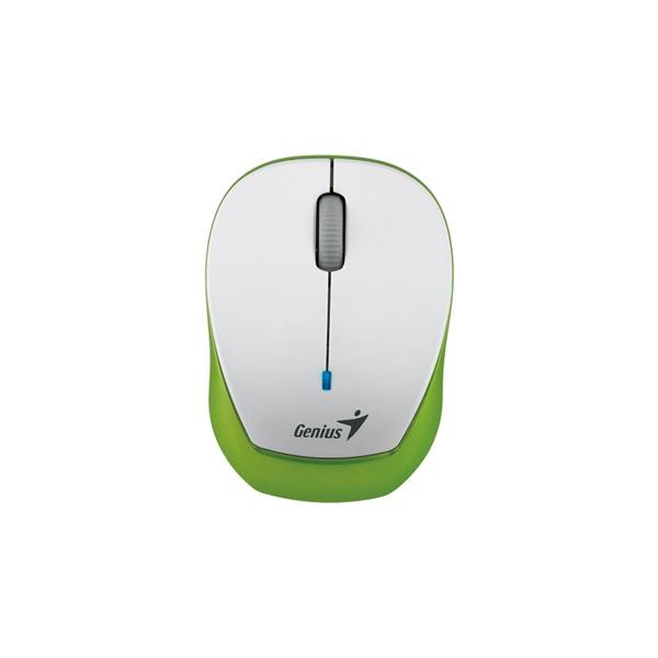 Genius MicroTraveler 9000R V3 USB fehér-zöld notebook egér - 1