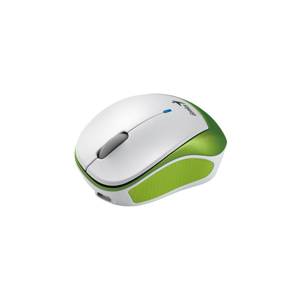 Genius MicroTraveler 9000R V3 USB fehér-zöld notebook egér - 2