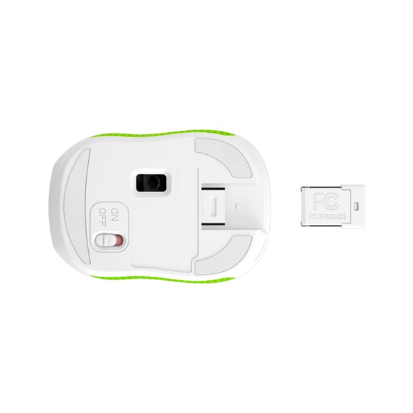 Genius MicroTraveler 9000R V3 USB fehér-zöld notebook egér - 3
