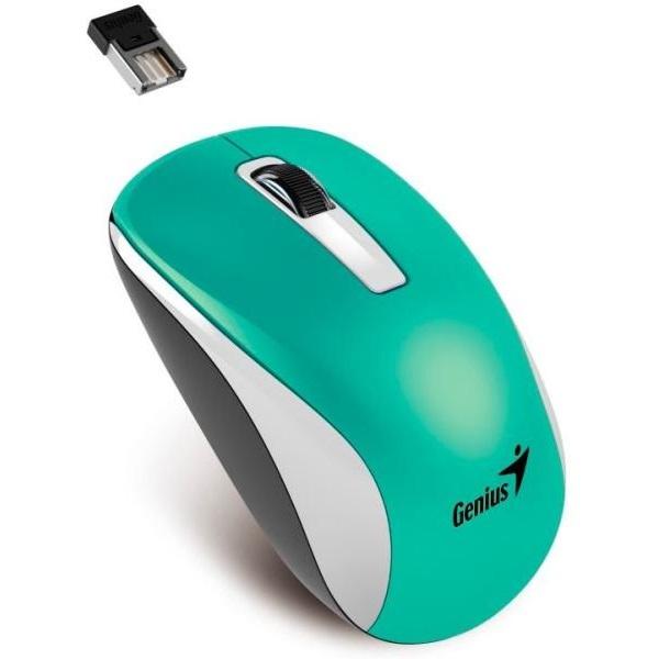 Genius NX-7010 BlueEye vezeték nélküli türkiz-metál egér - 1