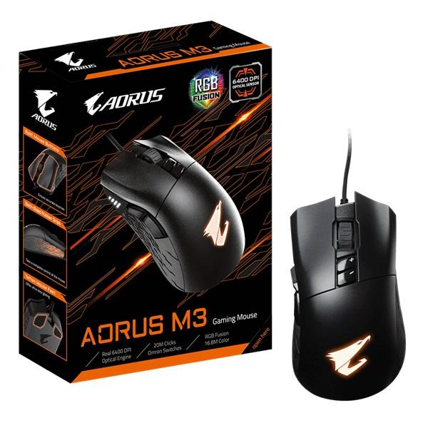 Gigabyte AORUS M3 fekete gamer egér - 6
