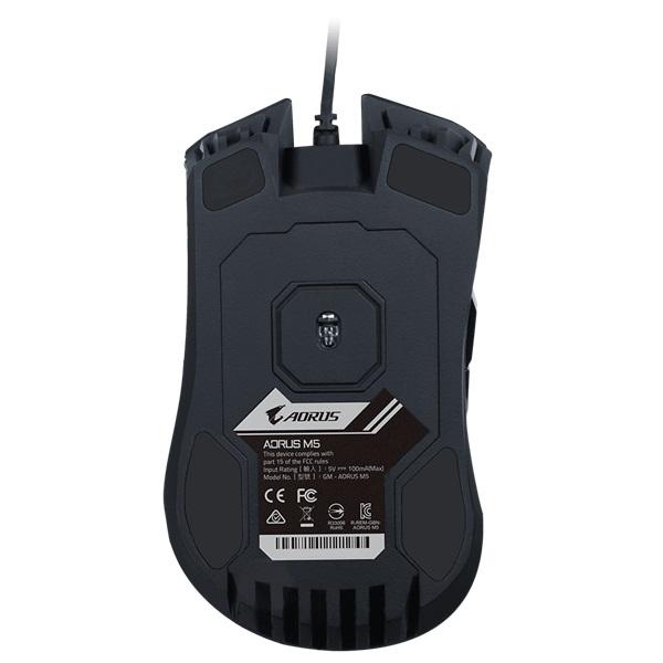 Gigabyte AORUS M5 fekete gamer egér - 5