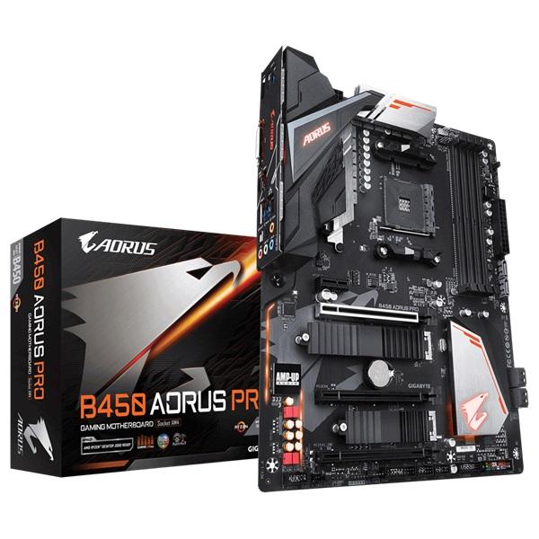 Gigabyte B450-AORUS-PRO AMD B450 SocketAM4 ATX alaplap - 1