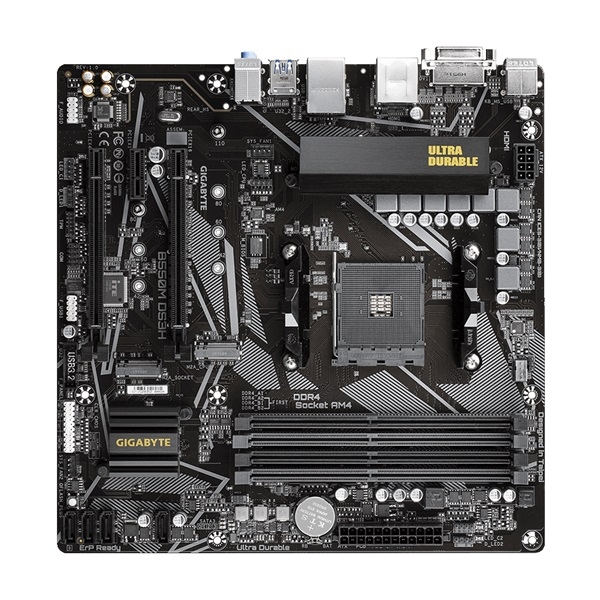 Gigabyte B550M-DS3H AMD B550 SocketAM4 mATX alaplap - 2
