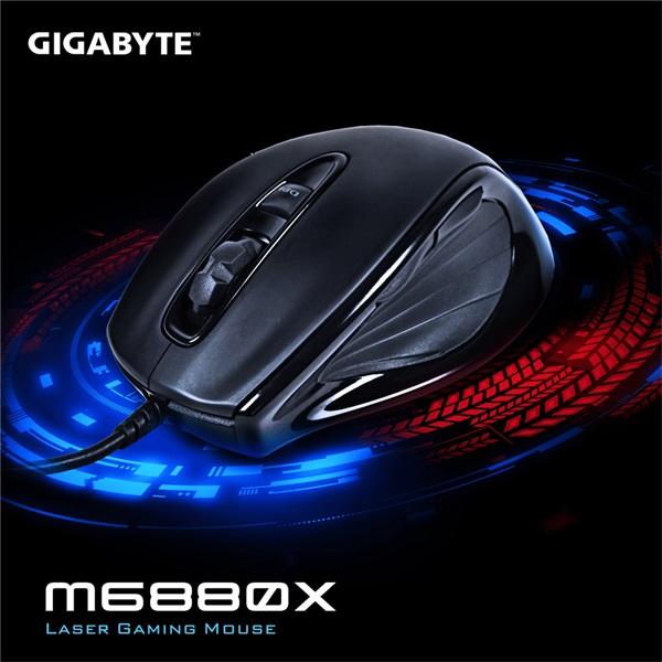 Gigabyte M6880X lézeres fekete gamer egér - 4