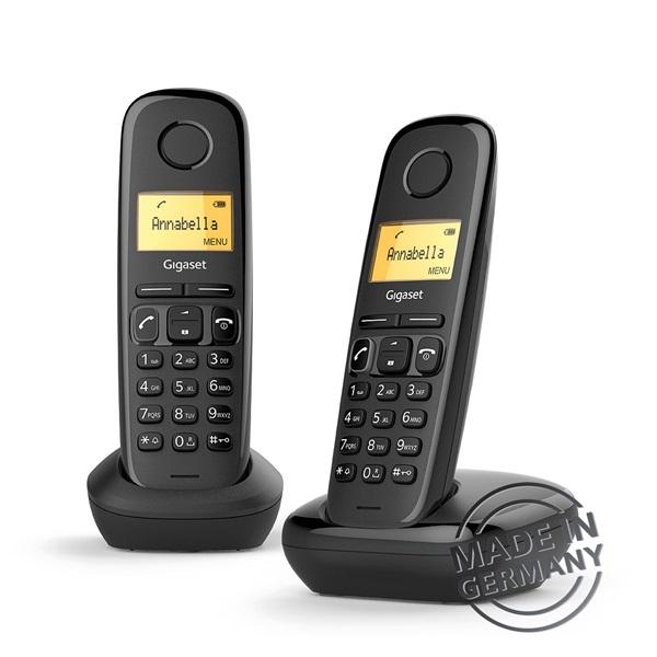 Gigaset A170 DUO DECT hívóazonosítós fekete telefon - 1