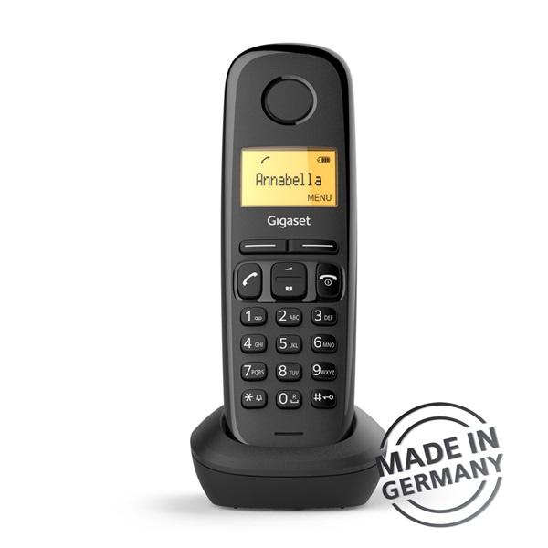 Gigaset A170 DUO DECT hívóazonosítós fekete telefon - 2